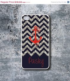 SALE Anchor Cell Phone Case  Glitter Phone Case  by YOUniqueStore, $16.20