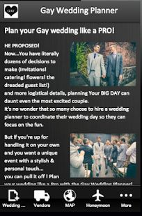 Gay Wedding Planner -  - Android Wedding app! BEST #gaywedding planning app for Same-sex couples!