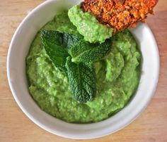 Creamy Minted Pea and Avocado Dip
