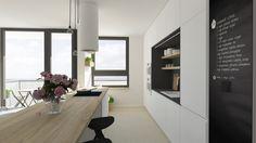 Kuchynská linka - farebna kombinacia + tabulova stena