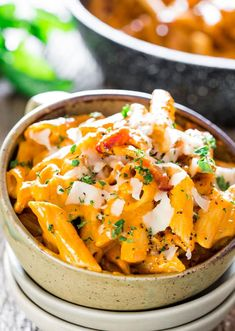 Roasted Red Pepper and Pecan Pesto Penne – a delicious pesto sauce made with roasted red pepper and pecans over penne. A very simple pasta dish ready in under 30 minutes. Easy Pasta Dishes, Tasty Dishes, Pesto Sauce, Quinoa, Easy Cooking, Cooking Recipes, Southern Mac And Cheese, Red Pesto, Salads