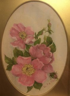 Perfect for Rosebud - the provincial flower which gave the hamlet its name! Finding A House, Local Artists, Rose Buds, Decorative Plates, Display, Flowers, Painting, Design, Home Decor