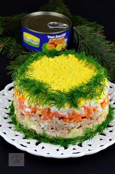 Salata Mimoza - CAIETUL CU RETETE Dory, Desserts, Recipies, Tailgate Desserts, Deserts, Postres, Dessert, Plated Desserts