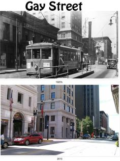Gay Street, then and now East Tennessee, Places Of Interest, Asheville, Baltimore, Old Photos, Maryland, Past, Street View, Memories