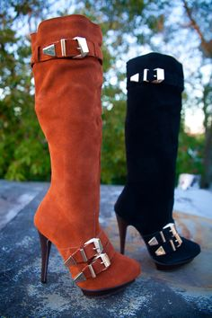 AVL Suede Full Boot. Available in sizes 6 to 10. Colors Black & Rust (shown) @ $59.99
