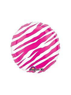 Pink Zebra Balloon 18 Birthday, Zebra Birthday, Happy Birthday Balloons, Birthday Ideas, Fabulous Birthday, Birthday Party Themes, Round Balloons, Mylar Balloons, Baby Shower Balloons