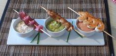 Dreierlei Spieße mit Dips #lecker #fleisch #foodporn #essen