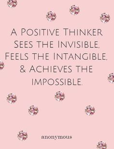 think positive #quote
