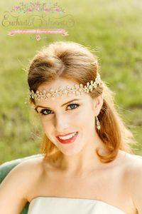 Enchanted Shimmer Designs Gold Juliet Headpiece