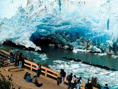 """desde la pasarela el mejor expectaculo"""""""" Glaciar Perito Moreno, Santa Cruz, Argentina"""