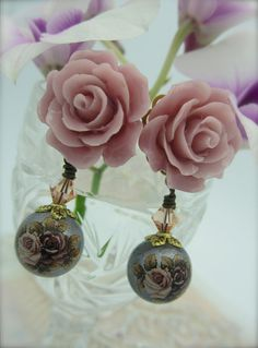 FLIRTATIOUS  Rose Cabochon Accents Beautiful by NoisyButterfly, $24.50
