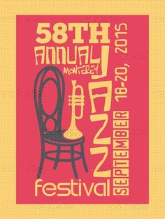 Monterey Jazz Festival Poster by Ray Price Designs on CreativeAllies.com