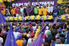Precandidato alcalde Carlos Guzmán califica  positivo acuerdo PLD y PRD; encabeza multitudinario bandero