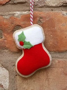 Hey, I found this really awesome Etsy listing at https://www.etsy.com/listing/245371340/felt-christmas-stocking-ornament