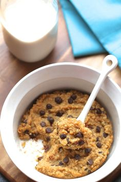 Oatmeal Cookie Dough Breakfast Bake || runningwithspoons.com