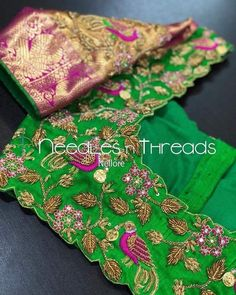 All Ethnic Customization with Hand Embroidery & beautiful Zardosi Art by Expert & Experienced Artist That reflect in Blouse , Lehenga & Sarees Designer creativity that will sunshine You & your Party Worldwide Delivery. Cutwork Blouse Designs, Kids Blouse Designs, Hand Work Blouse Design, Simple Blouse Designs, Saree Blouse Neck Designs, Stylish Blouse Design, Bridal Blouse Designs, Maggam Work Designs, Designer Blouse Patterns
