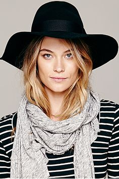 """28 Blogger-Approved Beauty Buys  #refinery29  http://www.refinery29.com/san-francisco-beauty-bloggers#slide-6  Pick 2: Christy's Crown Collection Ella Hat   """"I throw on a wool hat anytime I don't want to style my long hair.""""  $58, available at Free People."""