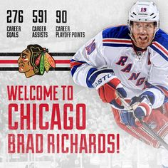 Welcome to Chicago, Brad Richards! #Blackhawks