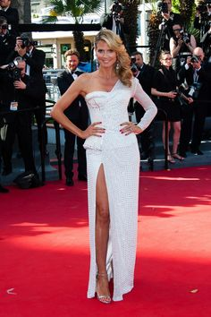 """Heidi Klum attended the """"Nebraska"""" premiere during The 66th Annual Cannes Film Festival at the Palais des Festivals on May 23."""