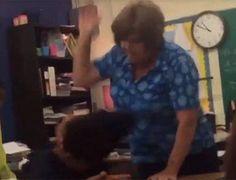 Indigna en redes video de maestra en Texas golpeando a alumno   El Puntero