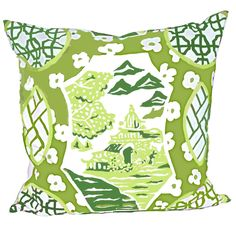 INSPIRATION - Canton in Green Pillow
