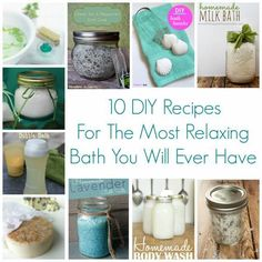 Sometimes at the end of a long and stressful day, a nice hot and relaxing bath is all that is needed to recharge.  This post has 10 ideas for some great DIY projects for you to use in your next bat…