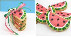 Watermelon Sugar Cookies! Courtesy of The Decorated Cookie.
