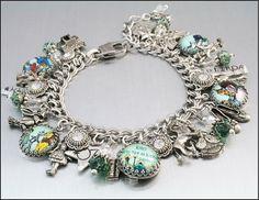 Wizard of Oz Charm Bracelet Silver Charm by BlackberryDesigns, $123.00