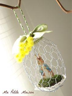Uovo realizzato in rete da conigliera.  Ma Petite Maison