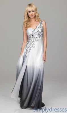LoVE!!! One Shoulder Ombre Dress. Would make a cool modern wedding dress.