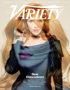 Christina Hendricks photographed by Peter Hapak at Variety's Emmy Studio for the cover of the June 17th issue.