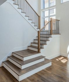 oak and white stairs