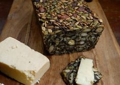 """A recipe and video tutorial on how to make Nordic """"Stone Age"""" Bread -- a grain-free, Paleo bread made from nuts and seeds."""