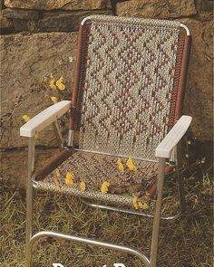 macrame patterns for chairs - Google Search
