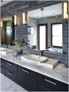 Large Modern Shower in Master Bathroom With Television Ideas