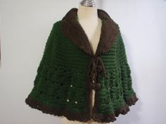 Crochet Green Shawl Wrap by Namaoy on Etsy, $59.00