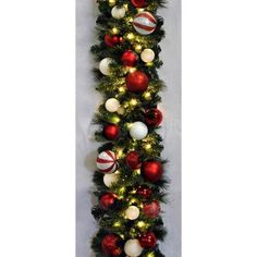 Queens of Christmas 9' Pre-Lit Blended Pine Decorated Garland