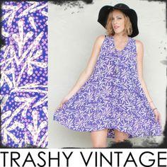 vtg 70s boho ETHNIC TRIBAL BATIK print hippie FESTIVAL TENT tunic mini dress OS $48.00