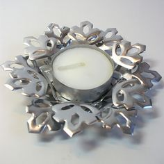 Tea Light Holder with Stampin Up Snowflake Die ♥♥