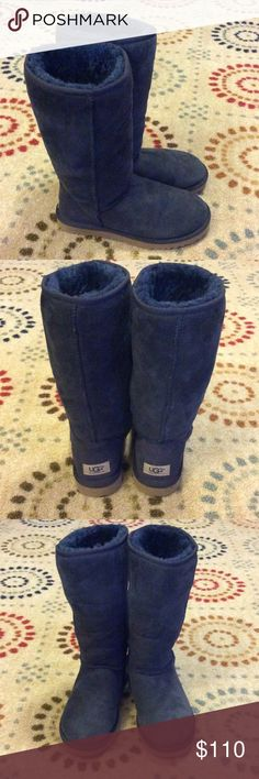 Tall Blue UGG Boots - Excellent Condition Womens tall Ugg Boots. These Uggs are in great condition. Only worn a few times. UGG Shoes