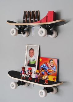 Idea for Tyler's room-- skate boards and dirt bikes?