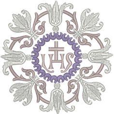 Machine Embroidery Design: Vintage Ecclesiastical Design 741