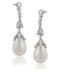 GORGEOUS teardrop pearl earrings