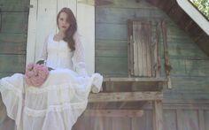 70s White Sheer Sleeve Lace Long Gunne Sax Boho Prairie Wedding Dress / Prairie Dress / Boho Dress / Country Western  / Gunne Sax Dress 249