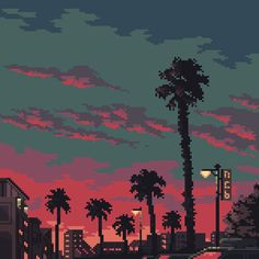 Palm trees by 5ldo0on   Tumblr   Ko-fi   Twitter   Instagram