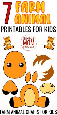 """Here's 7 Printable Farm Animal Crafts for kids sure to bring lots of fun and laughs to your home! Farm Animal Crafts are ideal indoor activities for toddlers, preschoolers & kindergartners or even colorful art projects for homeschoolers. With so many to choose from these farm animal crafts are a """"must have"""" so grab your farm animal templates today! Farm Animal Crafts, Animal Crafts For Kids, Farm Animals, Indoor Activities For Toddlers, Fun Activities, Barnyard Dance, Animal Templates, Printable Animals, Kids Moves"""