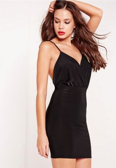 a0ef2bf765f0d Robe moulante noire à fines bretelles Day Dresses, Dresses Online, Tight  Dresses, Formal