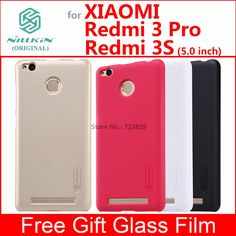 Xiaomi redmi 3 s fall redmi 3 pro 3 s fall deckung nillkin matt fall für xiaomi redmi 3 s prime 3 pro 3 s mit glas film
