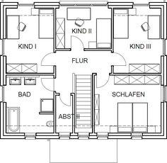 Stadthaus Grundriss Obergeschoss mit 72,47 m²