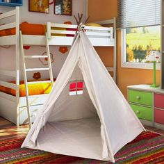 "Best Selling Indoor TeePee Tent – 70"" Tall Kids Classic Indian Play Tent with 5 Wood Poles and Carry Bag – Rawhide Look"